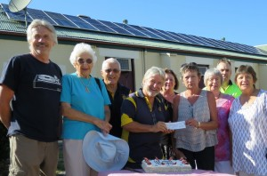 Rotary presents cheque for $5,000 for 10kW system on the Narooma Cinema