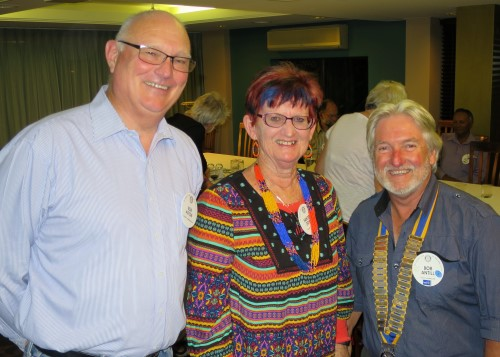 New members Bob and Sandra with Club President Bob