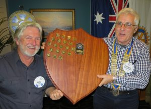 Pres Michael & PP Bob holding the Cinders Trophy - Sweet Victory!